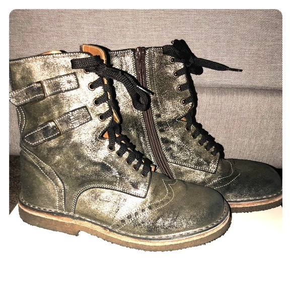 online store 9eec8 8a09b Girls Pepe Italian boots Gray/Black Bronze